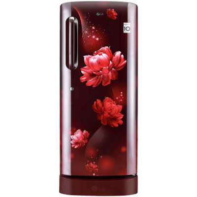 LG 235 L Direct Cool Single Door 4 Star Refrigerator with Base Drawer (Scarlet Charm, GL-D241ASCY)