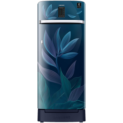 Samsung 225 L 4 Star Inverter Direct Cool Single Door Refrigerator(RR23A2F3Y9R/HL, Paradise Blue, Base Stand with Drawer, Digi-Touch Cool)