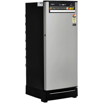 Picture of Whirlpool 200 L Direct Cool Single Door 3 Star Refrigerator with Base Drawer (Alpha Steel, 215 VITAMAGIC PRO ROY 3S)