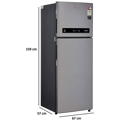 Picture of Whirlpool 265 L 3 Star Inverter Frost-Free Double Door Refrigerator (INTELLIFRESH INV CNV 278 3S, German Steel, Convertible)