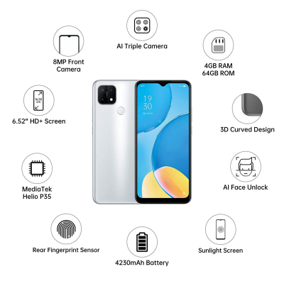 Picture of OPPO A15s (Fancy White, 4GB RAM, 64GB Storage)