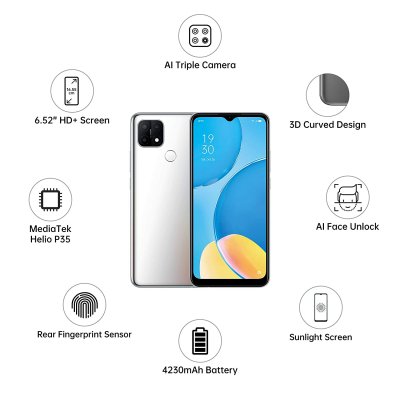 Picture of OPPO A15s (Rainbow Silver, 4GB RAM, 64GB Storage)