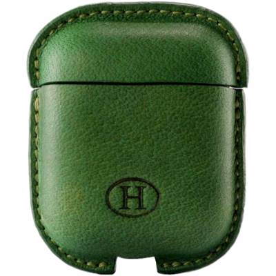 HAANS Leather Airpod Full Case Green 2500015