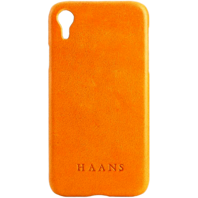 HAANS Leather Case iPhone XR Yellow 2500012