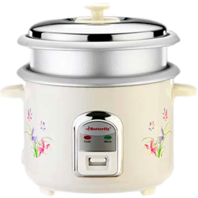 Butterfly Jade Electric Rice Cooker (1.8 L, Cream)