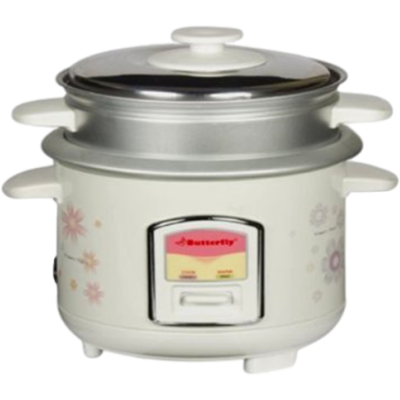 Butterfly KRC- 08 Electric Rice Cooker (600 ML, Cream)