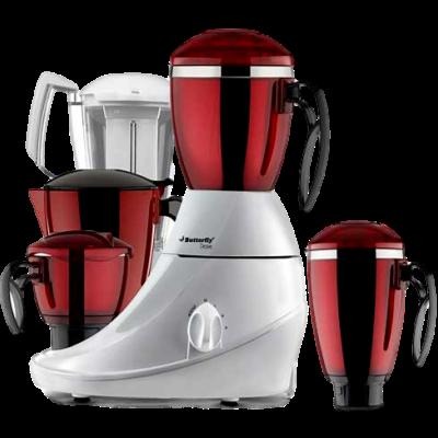 Butterfly Desire 4J 750 W Mixer Grinder(Red, 4 Jars)