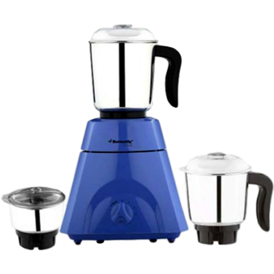 Butterfly Grand 500 W Mixer Grinder(Blue, 3 Jars)