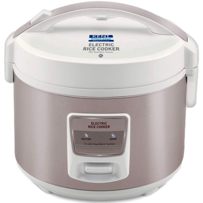 Picture of KENT 16013 Electric Rice Cooker (3 L, Ivory Brown)