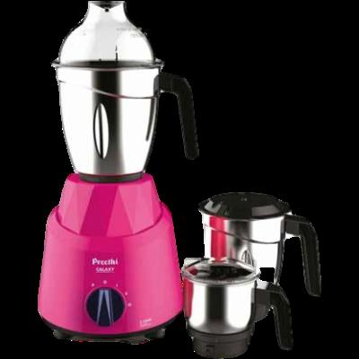 Preethi Galaxy 750 Mixer Grinder (Pink, 3 Jars)