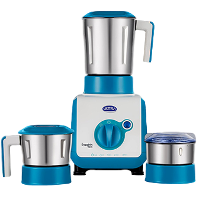 Ultra Stealth Mixer Grinder (Bright Turquoise, 3 Jars)