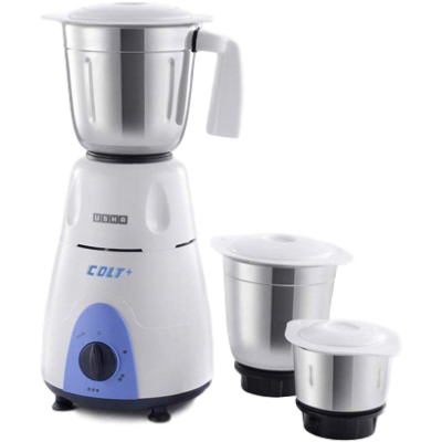Picture of Usha 3772 Colt Mixer Grinder (White and Blue, 3 Jars)