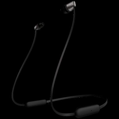 Sony WI-C310 Bluetooth Headset (Black, Wireless)