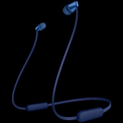 Sony WI-C310 Bluetooth Headset (Blue, Wireless)