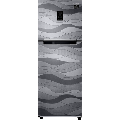 Samsung 314 L 2 star Double Door Refrigerator (RT34T4632NV, Wave Steel)