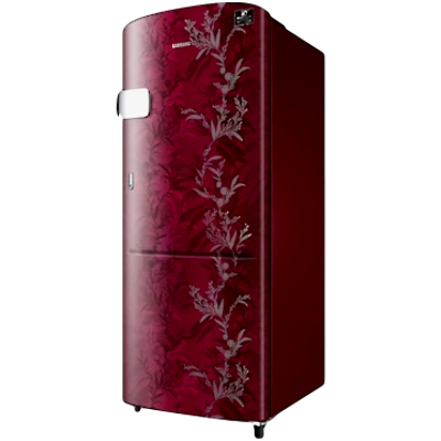 Picture of Samsung 192 L 3 star Single Door Refrigerator (RR20T1Y1Y6R, Mystic Overlay Red)