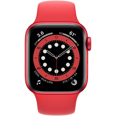 Apple Watch Series 6 GPS + Cellular 44mm PRODUCT(RED) Aluminium Case with PRODUCT(RED) Sport Band - Regular