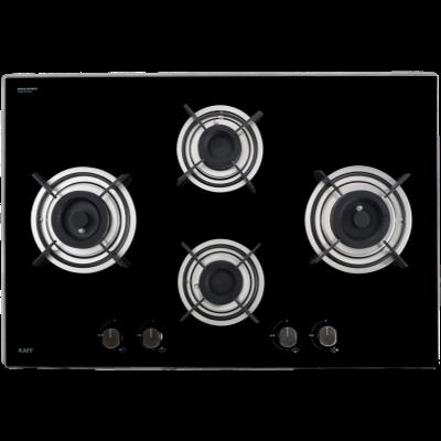 Kaff 4 Burner Glass Hob (Black, HBR 784C)