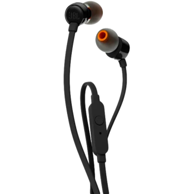 JBL T110 Wired Earphone With Mic Black